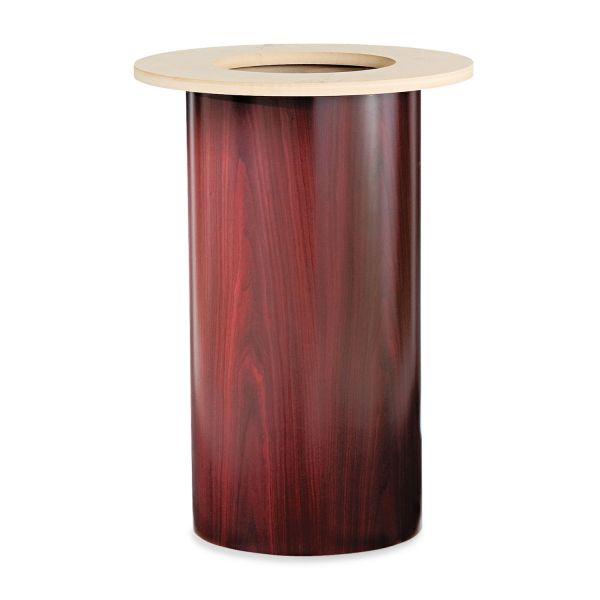 "HON Laminate Cylinder Table Base, 18"" dia. x 28h, Mahogany"