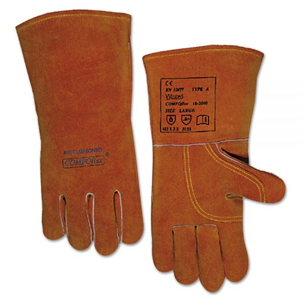 Anchor Brand Quality Welding Gloves, Bucktan, Large, Pair