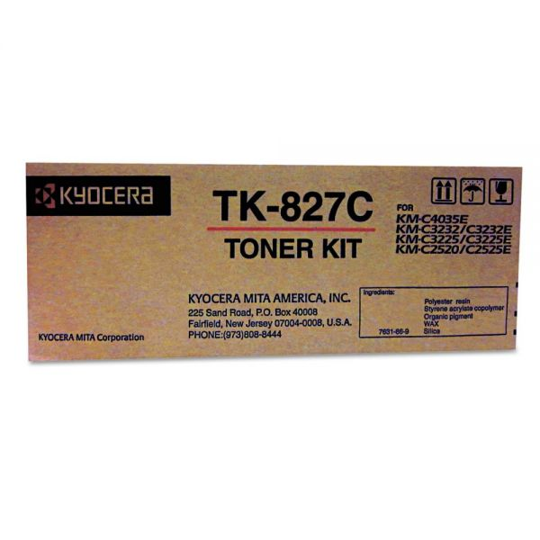 Kyocera TK827C Cyan Toner Cartridge