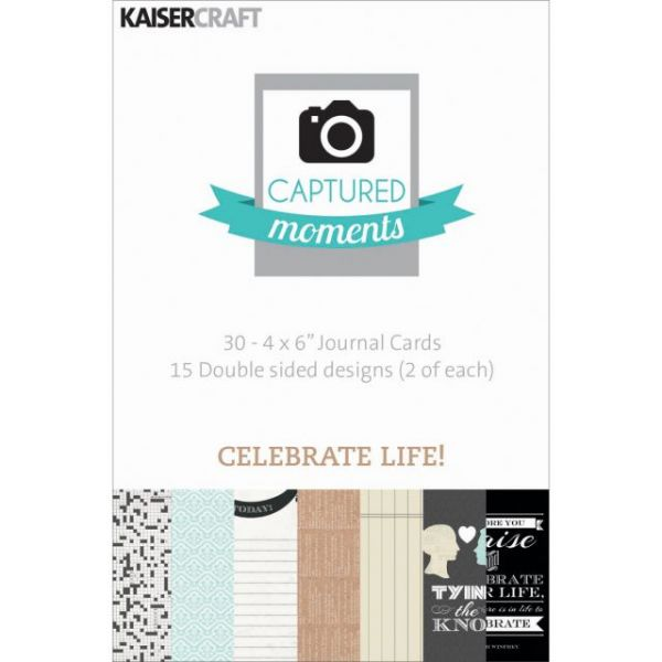 "Captured Moments Double-Sided Cards 6""X4"" 30/Pkg"