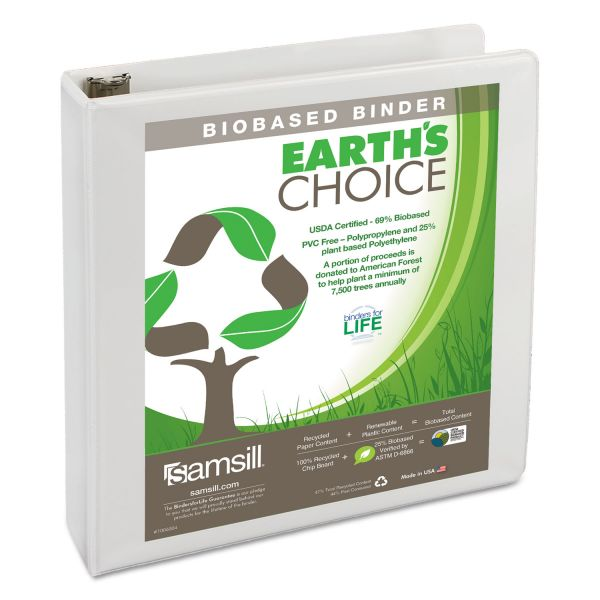 "Samsill Earth's Choice 1 1/2"" 3-Ring View Binder"