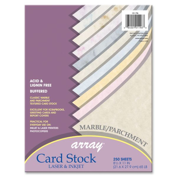 Pacon Array Marble/Parchment Heavyweight Colored Card Stock