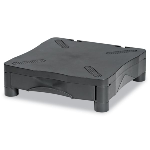 Kelly Computer Supply Adjustable Monitor Stand w/Single Storage Drawer, 13-1/4 x 13-1/2 x 2-3/4 to 4