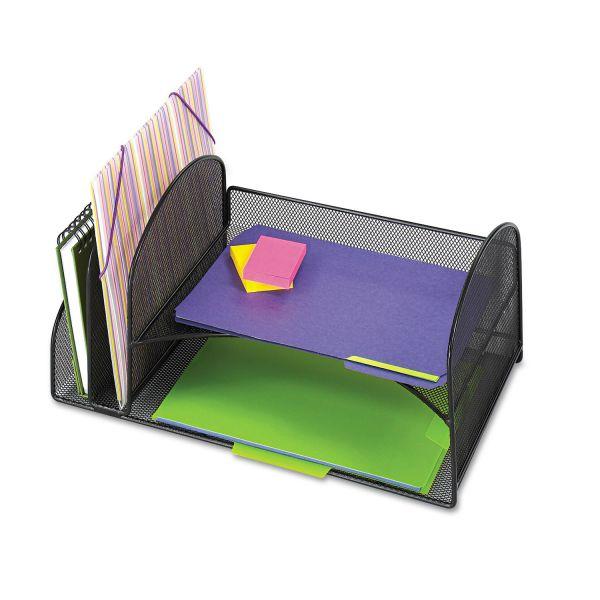 Safco Mesh Desktop Horizontal/Vertical File Organizer