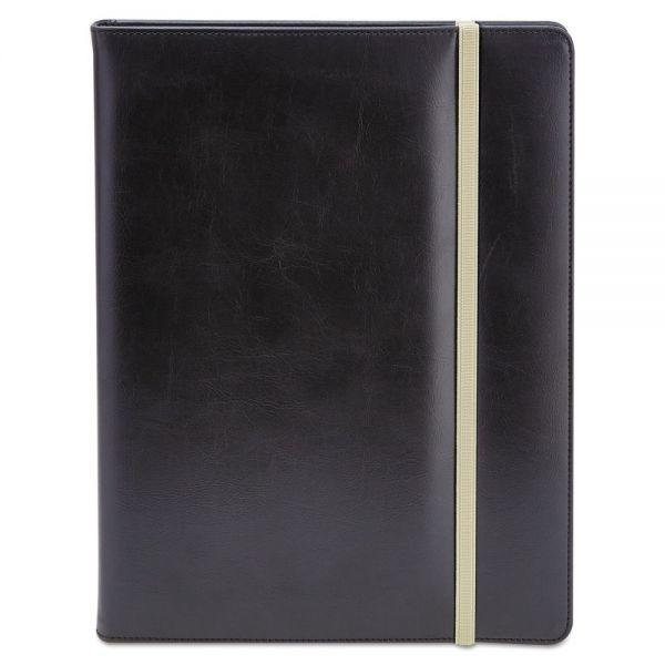 Universal Padfolio, 8 1/2 x 11, Vinyl, Black