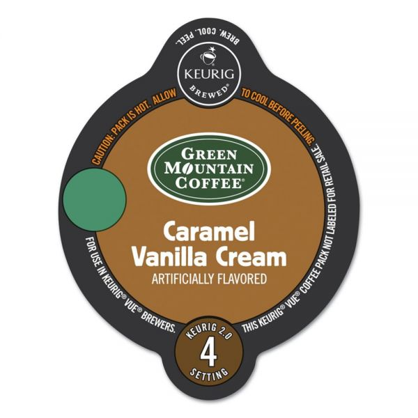 Green Mountain Coffee Roasters Caramel Vanilla Cream Coffee Vue Pack