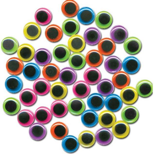 Paste-On Wiggle Eyes 20mm 50/Pkg