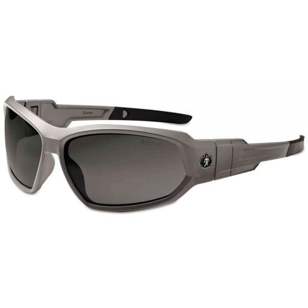 ergodyne Skullerz Loki Safety Glass/Goggle, Matte Gray Frame/Smoke Lns, AF,Nylon/Polycarb