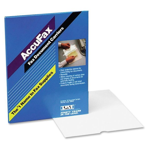 """PM Company Document Carrier for Copying, Scanning, Faxing, 8 1/2"""" x 11"""", Clear, 10/Pack"""