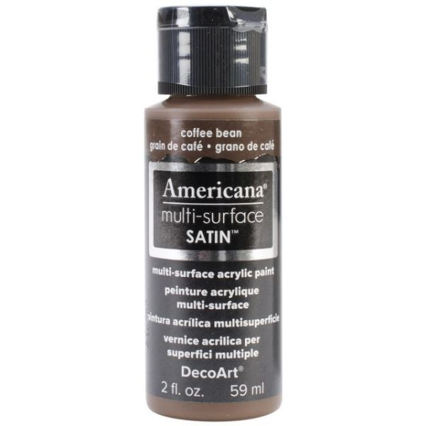 Deco Art Americana Multi-Surface Satin Coffee Bean Acrylic Paint