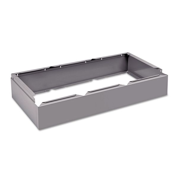 Tennsco Three Wide Closed Locker Base, 36w x 18d x 6h, Medium Gray