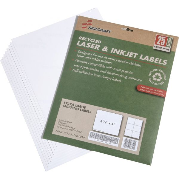 Skilcraft Extra Large Shipping Labels