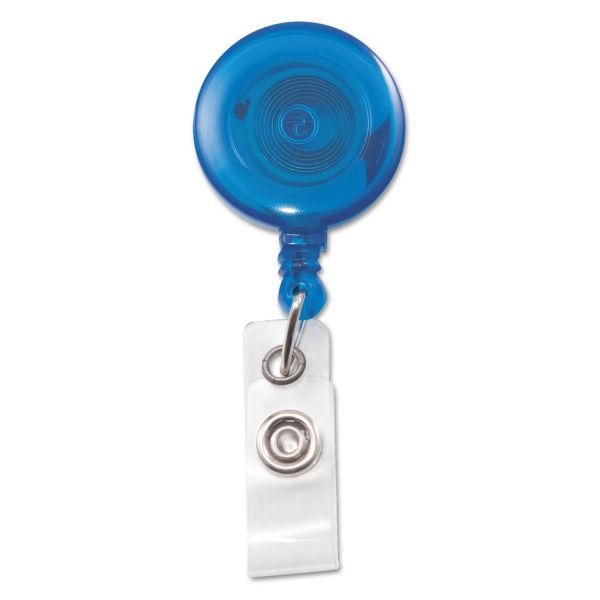 Advantus Translucent Retractable ID Card Reel with Snaps