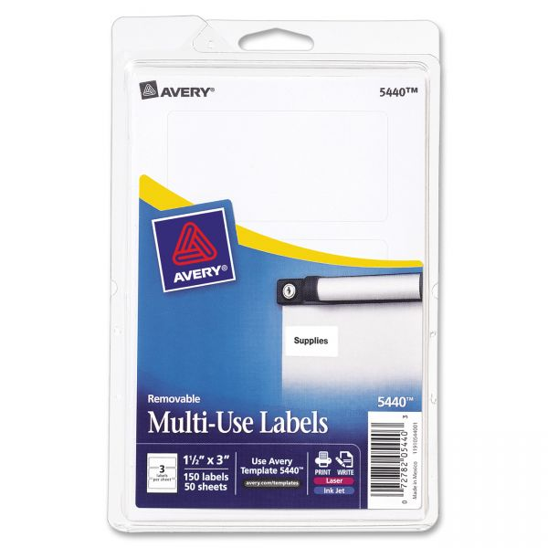 Avery Print Or Write Removable Multipurpose Labels