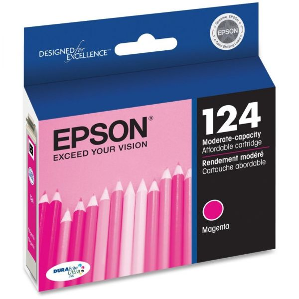 Epson 124 Magenta Ink Cartridge (T124320)