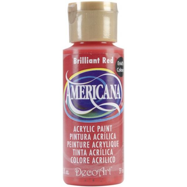 Deco Art Brilliant Red Americana Acrylic Paint