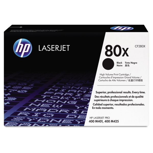 HP 80X Black High Yield Toner Cartridge (CF280X)