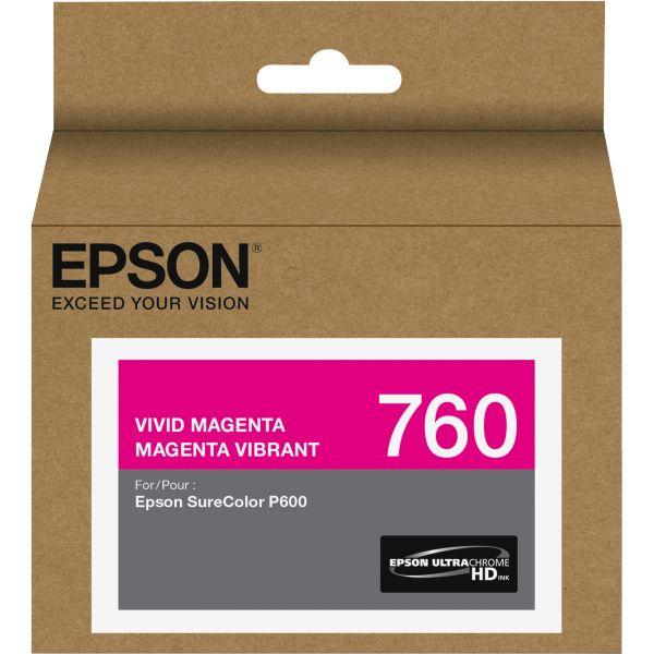 Epson 760 UltraChrome Vivid Magenta HD Ink Cartridge (T760320)