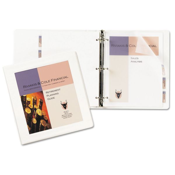 "Avery Framed View Heavy-Duty 3-Ring View Binder w/Locking 1-Touch EZD Rings, 1"" Capacity, White"