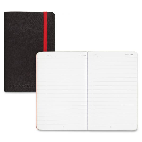 Black n' Red Soft Cover Notebook, Legal Rule, Black Cover, 5 1/2 x 3 1/2, 71 Sheets/Pad