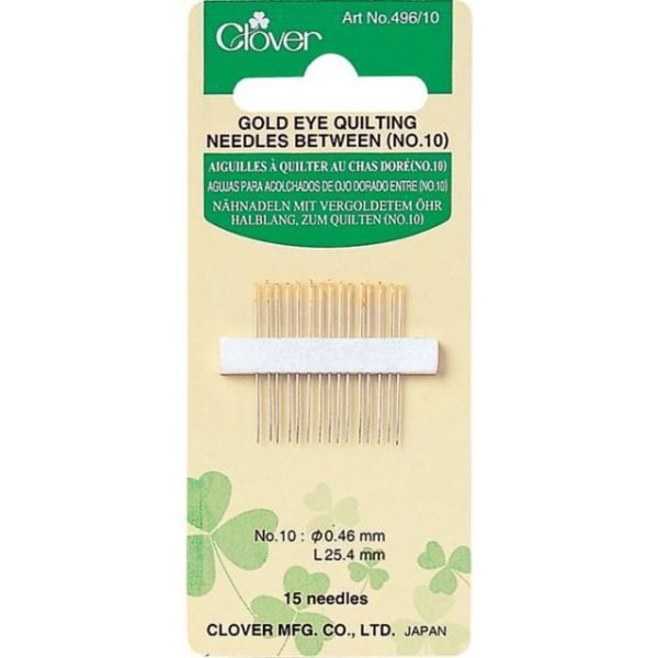 Clover Gold Eye Between Quilting Needles