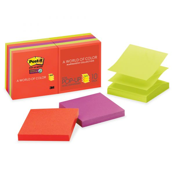 "Post-it 3"" x 3"" Super Sticky Pop-Up Notes"