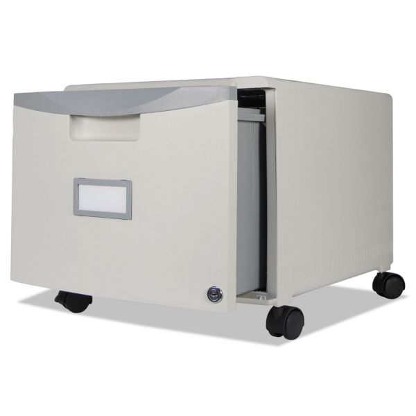 Storex Single-Drawer Mobile Filing Cabinet