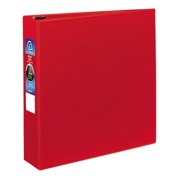 "Avery Heavy-Duty 3-Ring Binder with One Touch EZD Rings, 2"" Capacity, Red"
