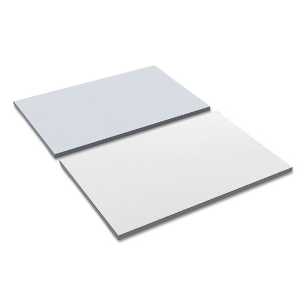 Alera Reversible Laminate Table Top, Rectangular, 35 3/8w x 23 5/8d, White/Gray