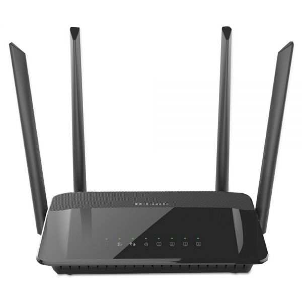 D-Link AC1200 Wi-Fi Router, 4 Ports, 2.4GHz; 5GHz