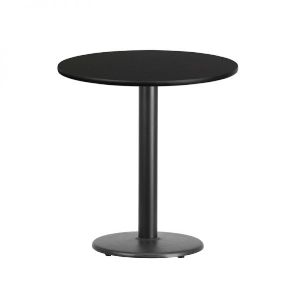 Flash Furniture 24'' Round Black Laminate Table Top with 18'' Round Table Height Base