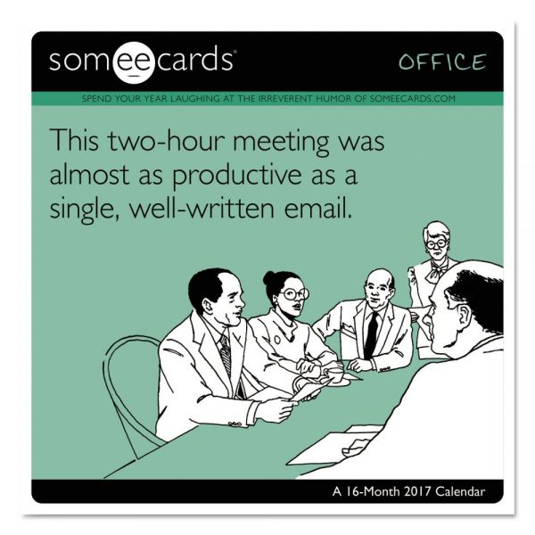 At-A-Glance Day Dream SomeECards Office Monthly Wall Calendar