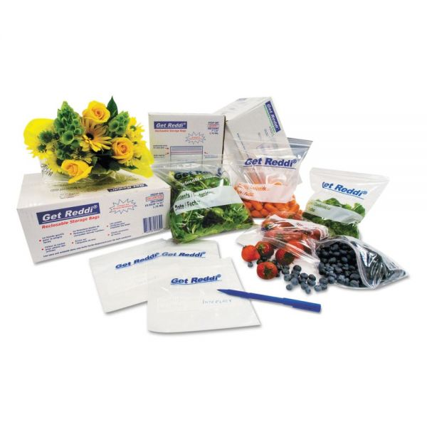 Inteplast Group Get Reddi Food & Poly Bag, 8 x 3 x 15, 4.5-Quart, 0.68 Mil, Clear, 1000/Carton