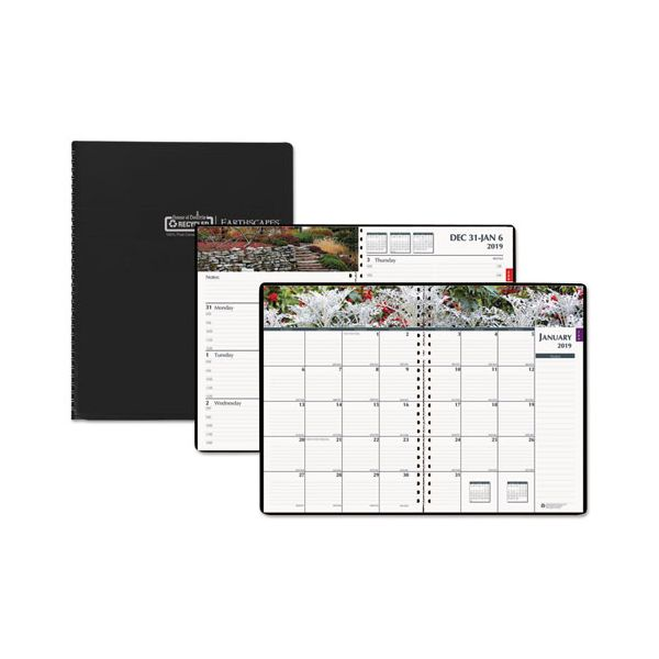 House of Doolittle Recycled Gardens of the World Weekly/Monthly Planner, 7 x 10, Black, 2019