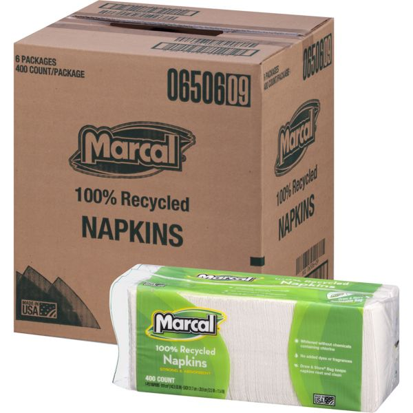 Marcal 100% Recycled Paper Napkins