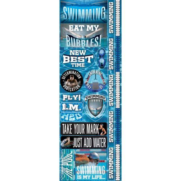 """Real Sport Die-Cut Cardstock Stickers 4.25""""X13"""""""