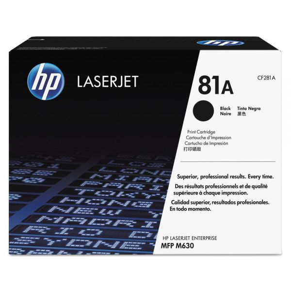 HP 81A Black Toner Cartridge (CF281A)