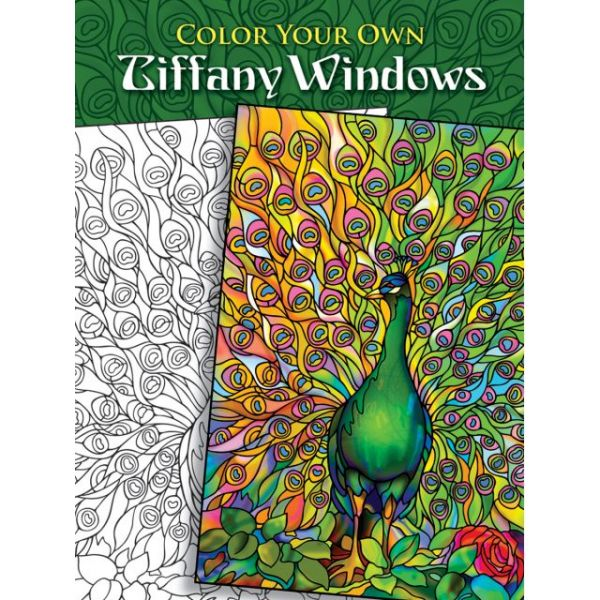 Dover Publications: Color Your Own Tiffany Windows Coloring Book