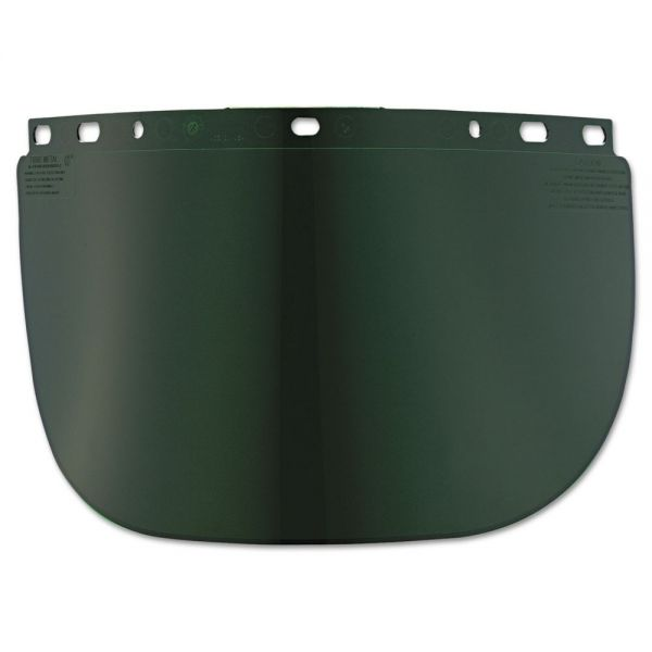 Fibre-Metal by Honeywell High Performance Face Shield Window, Wide Vision, Propionate, Dark Green