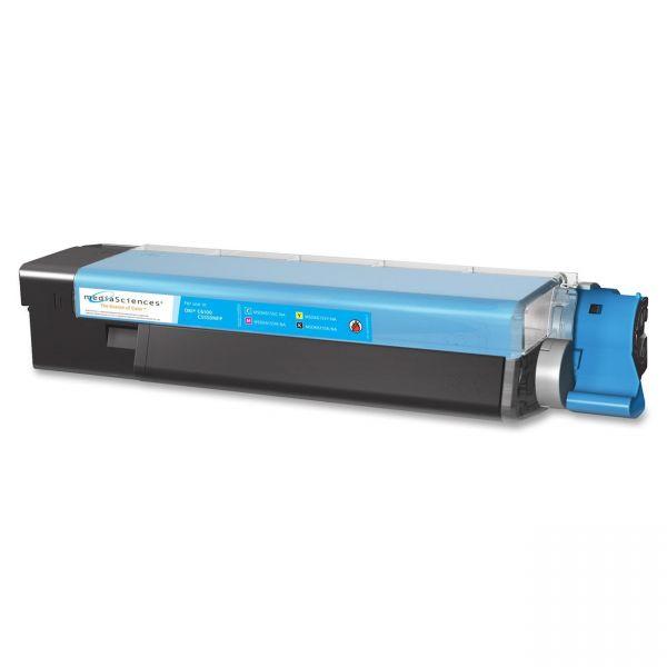 Media Sciences Remanufactured Oki 43865719 Cyan Toner Cartridge