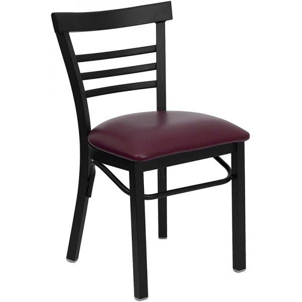 Flash Furniture Ladder Back Metal Restaurant Chair [XU-DG6Q6B1LAD-BURV-GG]