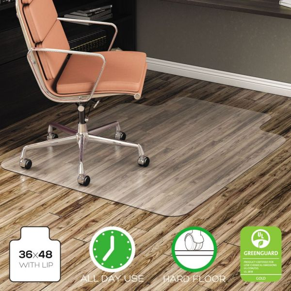 Deflect-o EconoMat No Bevel Hard Floor Chair Mat