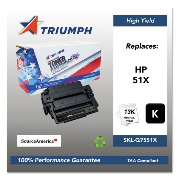 SKILCRAFT Remanufactured HP 51X High Yield Toner Cartridge