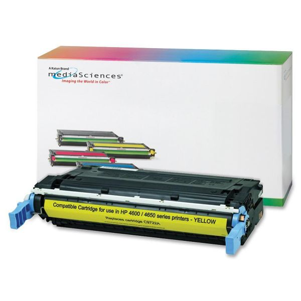 Media Sciences Remanufactured HP 641A Yellow Toner Cartridge