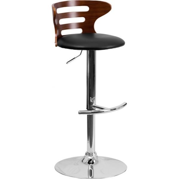 Flash Furniture Bentwood Barstool with Cutout Back