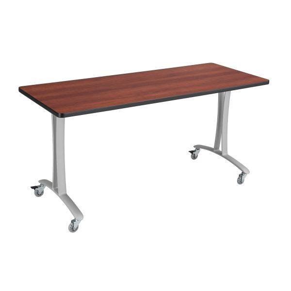 Safco Cherry Rumba Training Table w/ T-legs