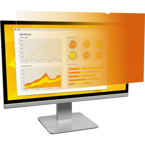 """3M Frameless Gold LCD Privacy Filter for 17"""" Monitor"""