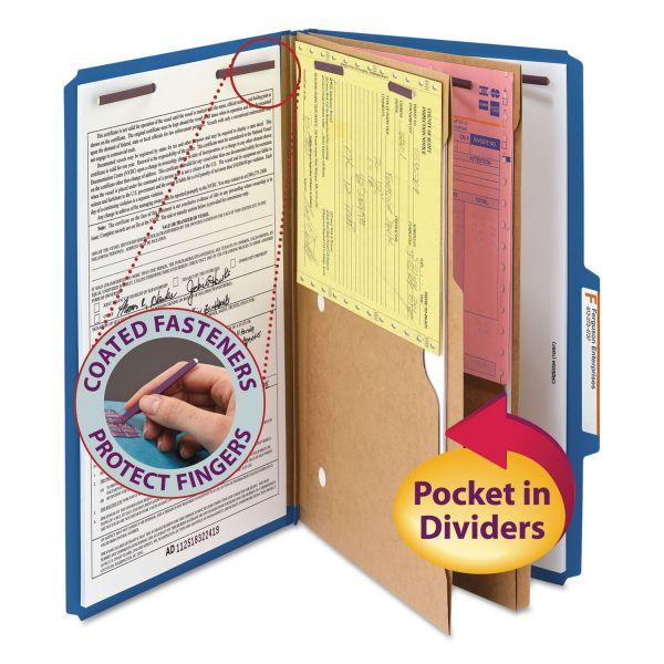 Smead Dark Blue Pressboard Classification Folders