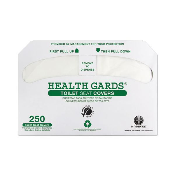 Hospital Specialty Co. Health Gards Recycled Toilet Seat Covers