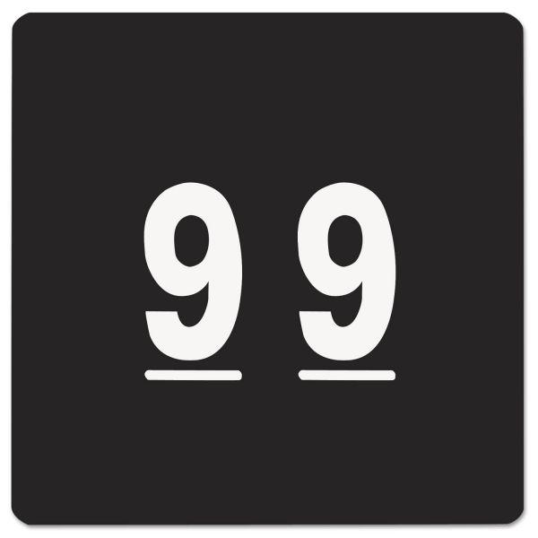 Smead Single Digit End Tab Labels, Number 9, Black, 250/Roll